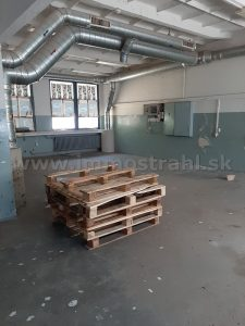 Skladový, výrobný objekt 541 m2 na prenájom na Narcisovej ulici v Bratislave