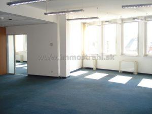 Reprezentatívny kancelársky priestor na prenájom 126 m2 v budove Europeum BC na Suchom Mýte
